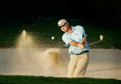 Jerry Kelly hits out of a bunker at the 18th green during the second round of the Sony Open in Hawaii held at Waialae Country Club on January 11, 2008 in Honolulu, Hawaii. PGA TOUR - 2008 Sony Open in Hawaii - Second RoundPhoto by Stan Badz/PGA TOUR/WireImage.com