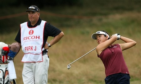 SUNNINGDALE, UNITED KINGDOM - JULY 31:  Jane Park of the USA plays her 2nd shot at the 17th hole during the first round of the 2008  Ricoh Women's British Open Championship held on the Old Course at Sunningdale Golf Club, on July 31, 2008 in Sunningdale, England.  (Photo by David Cannon/Getty Images)