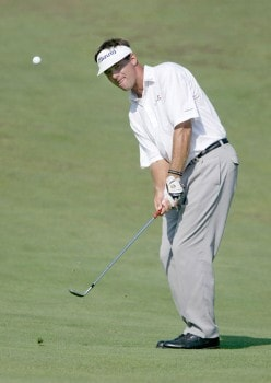 Dan Olsen in action during the third round of the 2005 National Mining Association Pete Dye Classic at the Pete Dye Golf Club in Bridgeport, West Virginia on Saturday, July 9th, 2005.Photo by Hunter Martin/WireImage.com