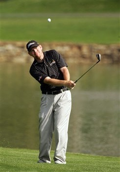 CHARLOTTE, NC - MAY 02:  Troy Matteson plays a shot on the 17th hole during the second round of the Wachovia Championship at Quail Hollow Country Club on May 2, 2008 in Charlotte, North Carolina.  (Photo by Sam Greenwood/Getty Images)