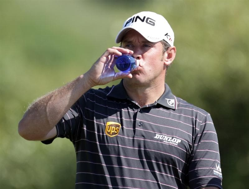 CASARES, SPAIN - MAY 21:  Lee Westwood of England during his last 16 match of the Volvo World Match Play Championships at Finca Cortesin on May 20, 2011 in Casares, Spain.  (Photo by Ross Kinnaird/Getty Images)