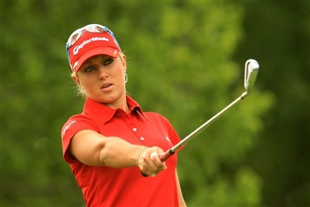 EDINA, MN - JUNE 26:  Natalie Gulbis lines up her tee shot on the fourth hole during the first round of the 2008 U.S. Women's Open at Interlachen Country Club on June 26, 2008 in Edina, Minnesota.  (Photo by Scott Halleran/Getty Images)