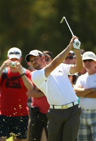 MELBOURNE, AUSTRALIA - NOVEMBER 09:  Sergio Garcia of Spain plays an iron shot during a practice round during day four of the Australian Masters at The Victoria Golf Club on November 9, 2010 in Melbourne, Australia.  (Photo by Ryan Pierse/Getty Images)