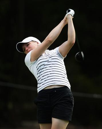 MELBOURNE, AUSTRALIA - FEBRUARY 12:  Ursula Wikstrom of Finland plays her second shot on the 14th hole during day one of the 2009 Women's Australian Open held at the Metropolitan Golf Club February 12, 2009 in Melbourne, Australia.  (Photo by Mark Dadswell/Getty Images)
