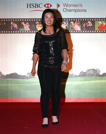 SINGAPORE - MARCH 04:  Se Ri Pak of South Korea walks down the runway during the Gala Dinner prior to the start of the HSBC Women's Champions at Tanah Merah Country Club on March 4, 2009 in Singapore.  (Photo by Andrew Redington/Getty Images)