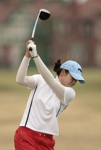 Korea's Hee-Won Han during Pro-Am day before the 2006 Weetabix Women's British Open at the Royal Lytham and St. Annes Golf Club in Lytham, Great Britain on August 2, 2006.Photo by Pete Fontaine/WireImage.com