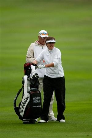 DANVILLE, CA - OCTOBER 17: Michele Redman stands in teh fairway with her golf bag during the final round of the CVS/Pharmacy LPGA Challenge at Blackhawk Country Club on October 16, 2010 in Danville, California. (Photo by Darren Carroll/Getty Images)
