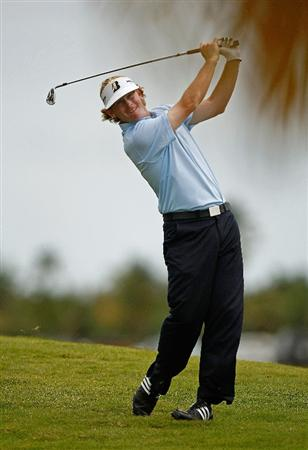 RIO GRANDE, PR - MARCH 12:  Brandt Snedeker hits his approach on the second hole during the first round of the 2009 Puerto Rico Open presented by Banco Popular on March 12, 2009 at the Trump International Golf Club in Rio Grande, Puerto Rico.  (Photo by Mike Ehrmann/Getty Images)