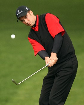 DUBAI, UNITED ARAB EMIRATES - FEBRUARY 01:  Ross Fisher of England during the second round of the Dubai Desert Classic on the Majlis Course held at the Emirates Golf Club on February 1, 2008 in Dubai,United Arab Emirates.  (Photo by Ross Kinnaird/Getty Images)