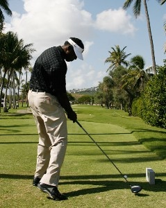 Vijay Singh hits a drive during practice round at the Sony Open in Hawaii held at Waialae Country Club on January 9, 2008 in Honolulu, Hawaii. PGA TOUR - 2008 Sony Open in Hawaii - Pro-AmPhoto by Stan Badz/PGA TOUR/WireImage.com