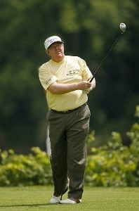 ENDICOTT, NY - JULY 14:  Andy Bean during the second round of the Dick's Sporting Goods Open being held at En Joi Golf Club in Endicott, New York on July 14, 2007. (Photo by Mike Ehrmann/WireImage)  *** Local Caption *** Andy Bean Champions Tour - 2007 Dick's Sporting Goods Open - Second RoundPhoto by Mike Ehrmann/WireImage)  *** Local Caption *** Andy Bean