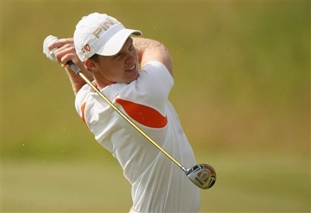 VERSAILLES, FRANCE - JUNE 27:  Danny Willett of England plays his second shot on the ninth hole during the second round of the Open de France ALSTOM at the Le Golf National Golf Club on June 27, 2008 in Versailles, France.  (Photo by Warren Little/Getty Images)