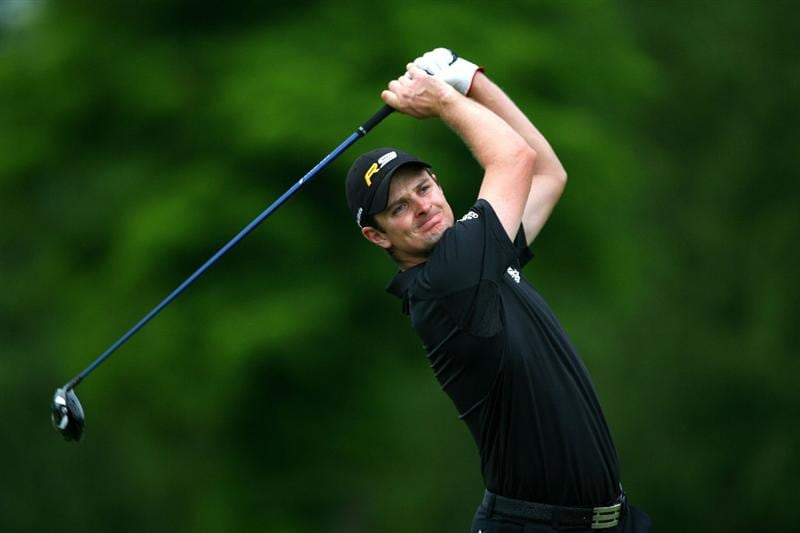 AVONDALE, LA - APRIL 23:  Justin Rose of England tees off on the 15th hole during the second round of the Zurich Classic at TPC Louisiana on April 23, 2010 in Avondale, Louisiana.  (Photo by Chris Trotman/Getty Images)