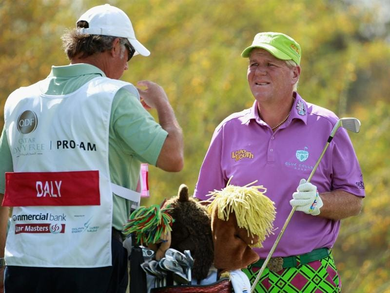 DOHA, QATAR - FEBRUARY 02:  John Daly of the USA during the Pro Am prior to start of the Commercialbank Qatar Masters held at Doha Golf Club on February 2, 2011 in Doha, Qatar.  (Photo by Andrew Redington/Getty Images)