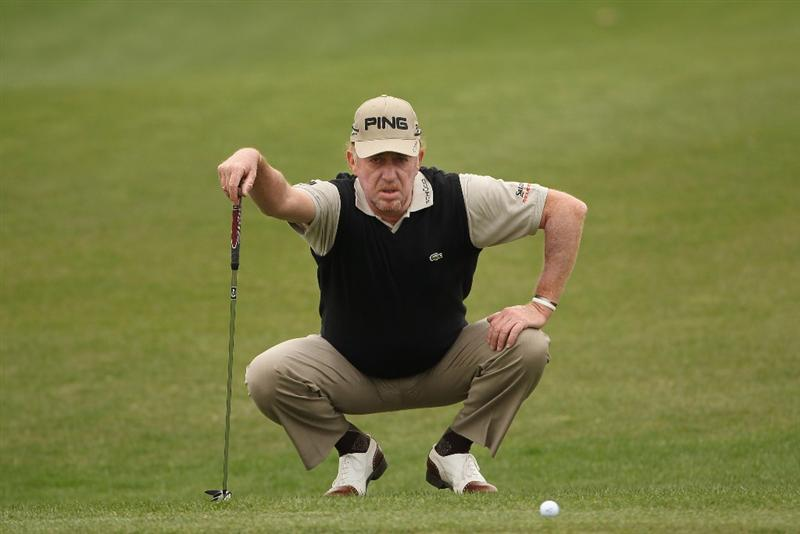 ICHEON, SOUTH KOREA - APRIL 29:  Miguel Angel Jimenez of Spain in action during the second round of the Ballantine's Championship at Blackstone Golf Club on April 29, 2011 in Icheon, South Korea.  (Photo by Andrew Redington/Getty Images)