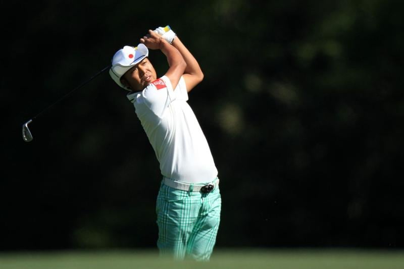 AUGUSTA, GA - APRIL 09:  Shingo Katayama of Japan hits a shot on the fifth hole during the second round of the 2010 Masters Tournament at Augusta National Golf Club on April 9, 2010 in Augusta, Georgia.  (Photo by David Cannon/Getty Images)