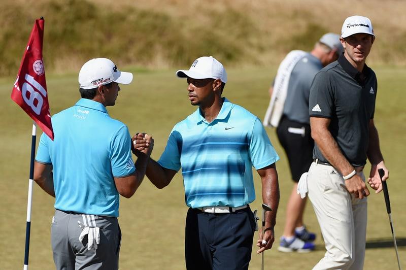 Jason Day, Tiger Woods, Dustin Johnson