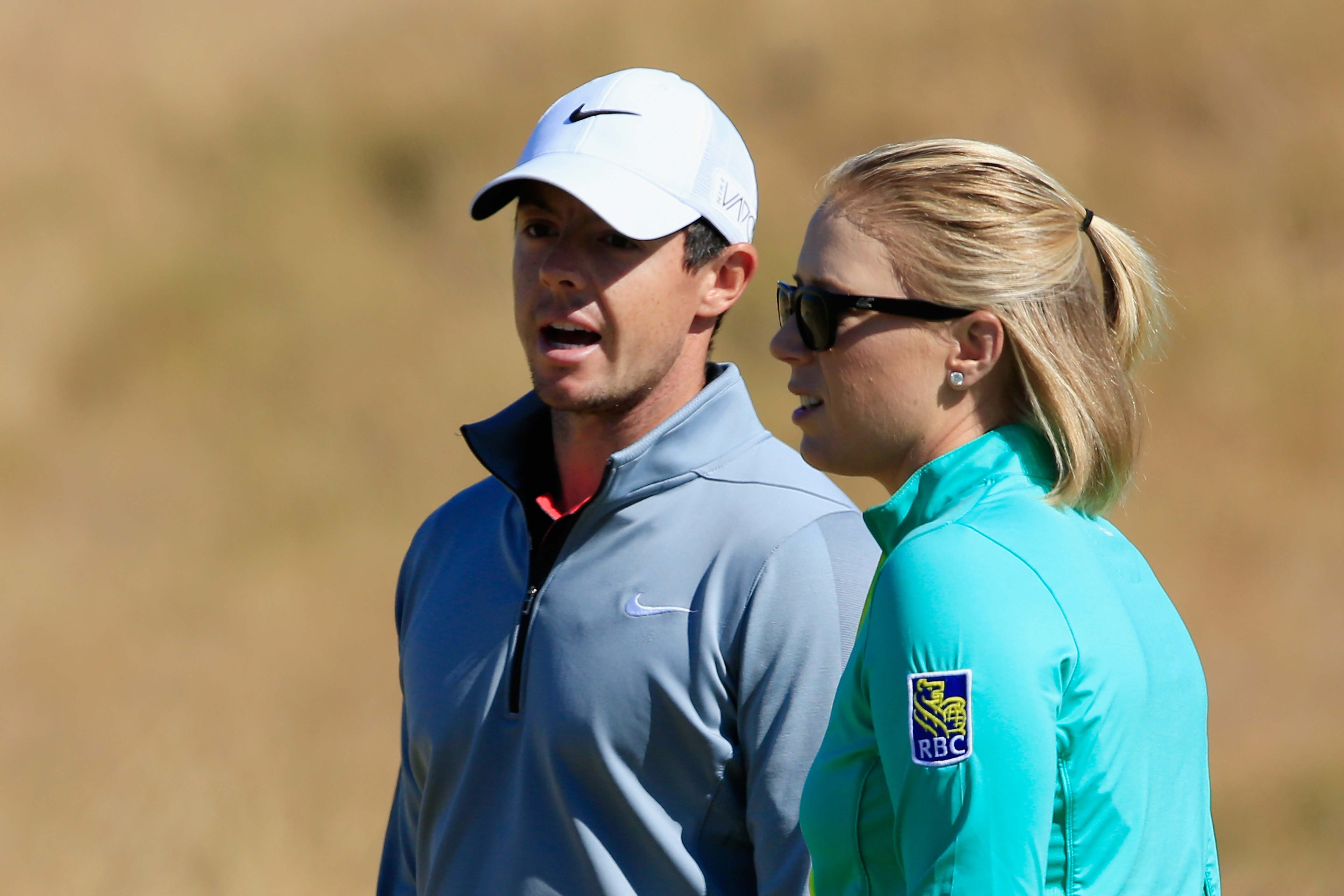 Rory McIlroy and Morgan Pressel