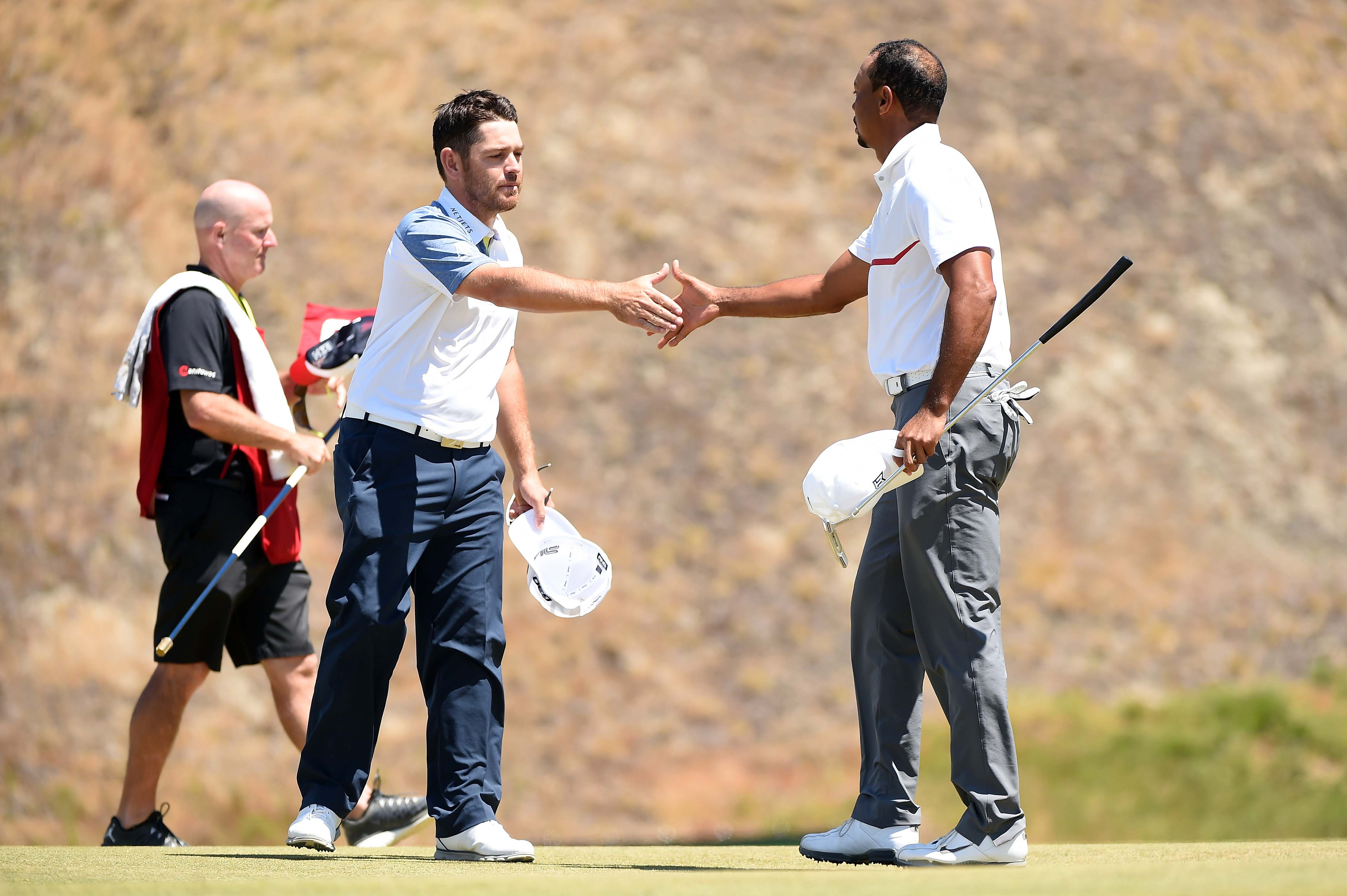 Tiger Woods and Louis Oosthuizen
