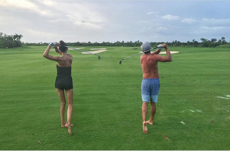 Alexis Randock and Rickie Fowler