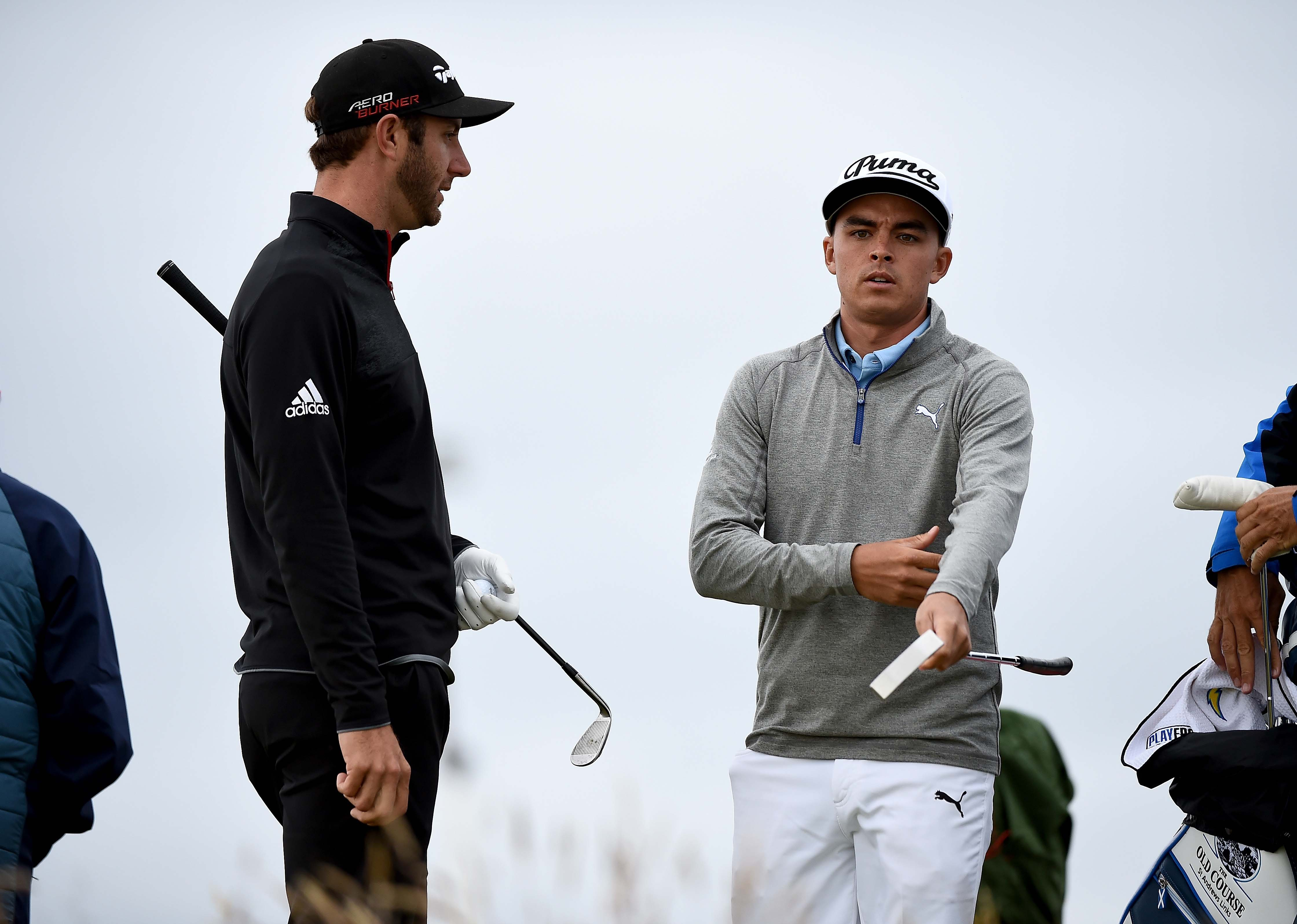 Dustin Johnson and Rickie Fowler