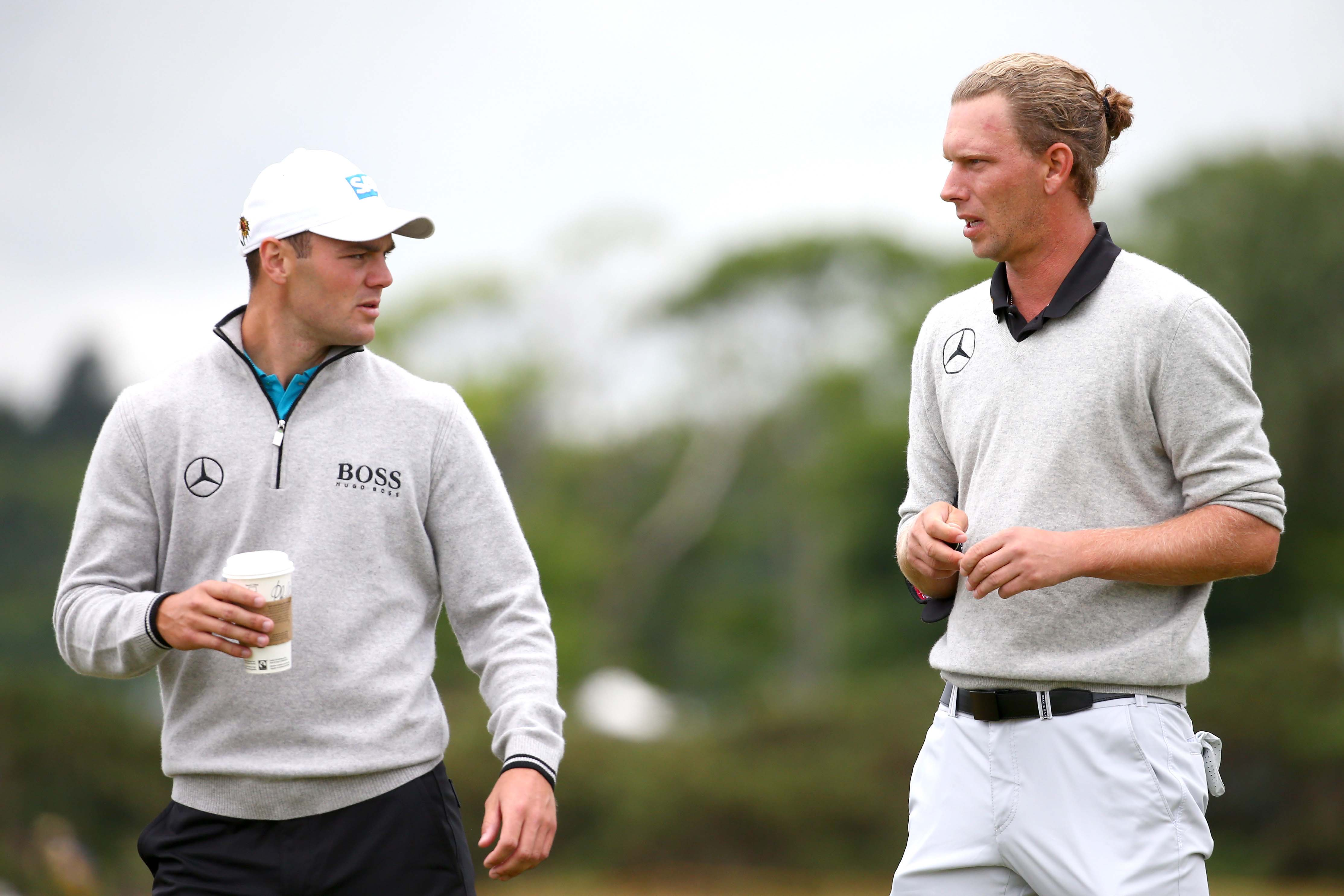 Marcel Siem (R) and Martin Kaymer