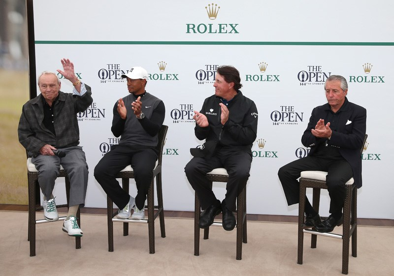 Arnold Palmer, Tiger Woods, Phil Mickleson, Gary Player
