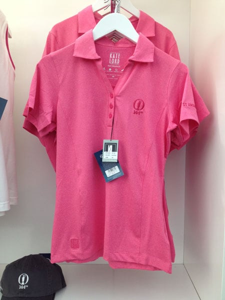 Ladies pink polo: £45.00