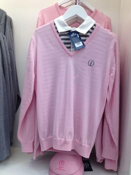 Ladies pink knit sweater: £70.00