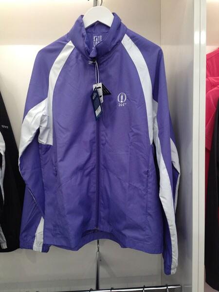 Ladies purple windjacket: £65.00