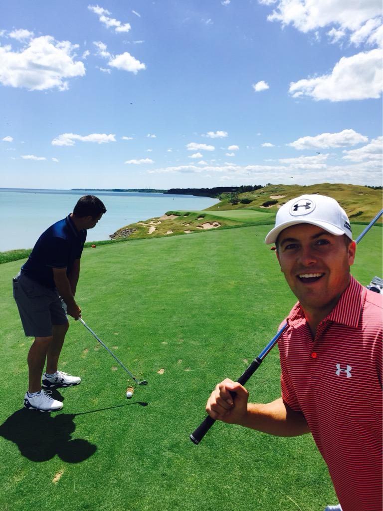 Jordan Spieth and Gary Woodland