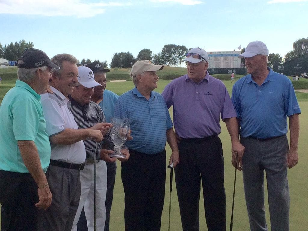 Gary Player, Lee Trevino, Jack Nicklaus and Johnny Miller