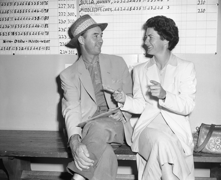 Sam Snead and Louise Suggs