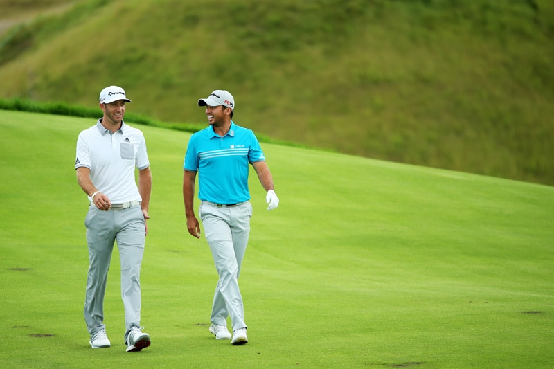 Dustin Johnson and Jason Day