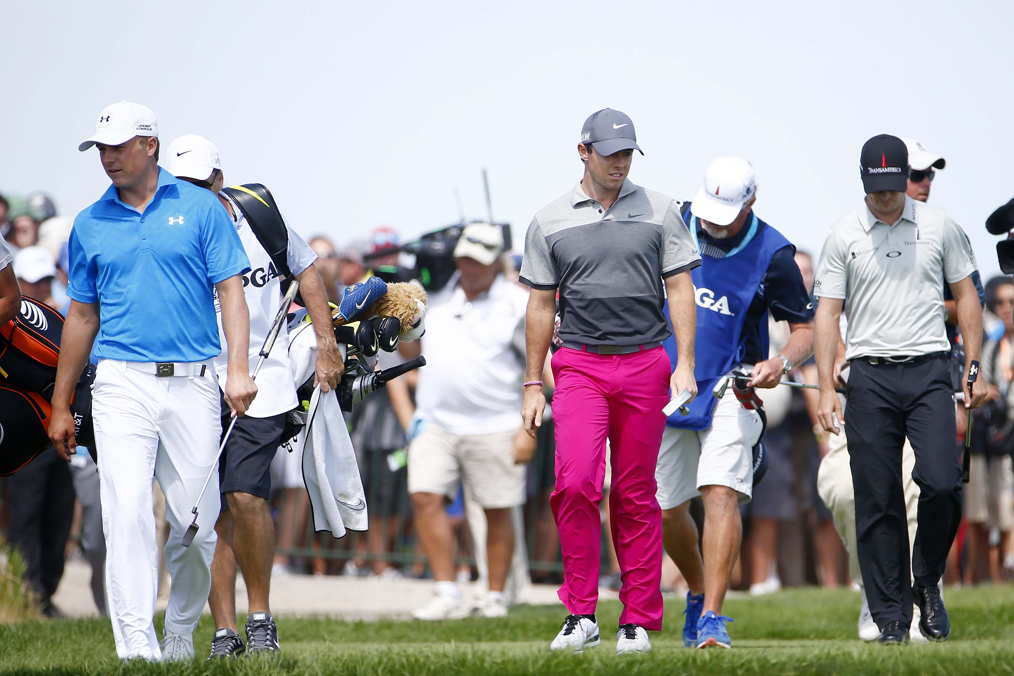 Jordan Spieth, Rory McIlroy and Zach Johnson