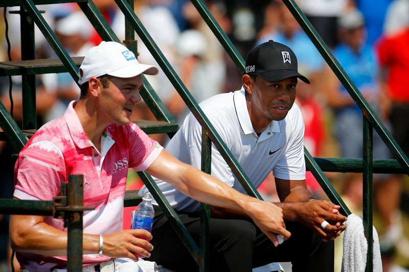 Martin Kaymer and Tiger Woods