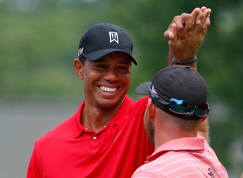 Tiger Woods and Scott Brown