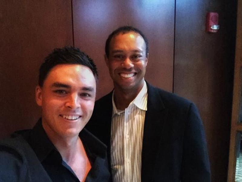 Rickie Fowler and Tiger Woods