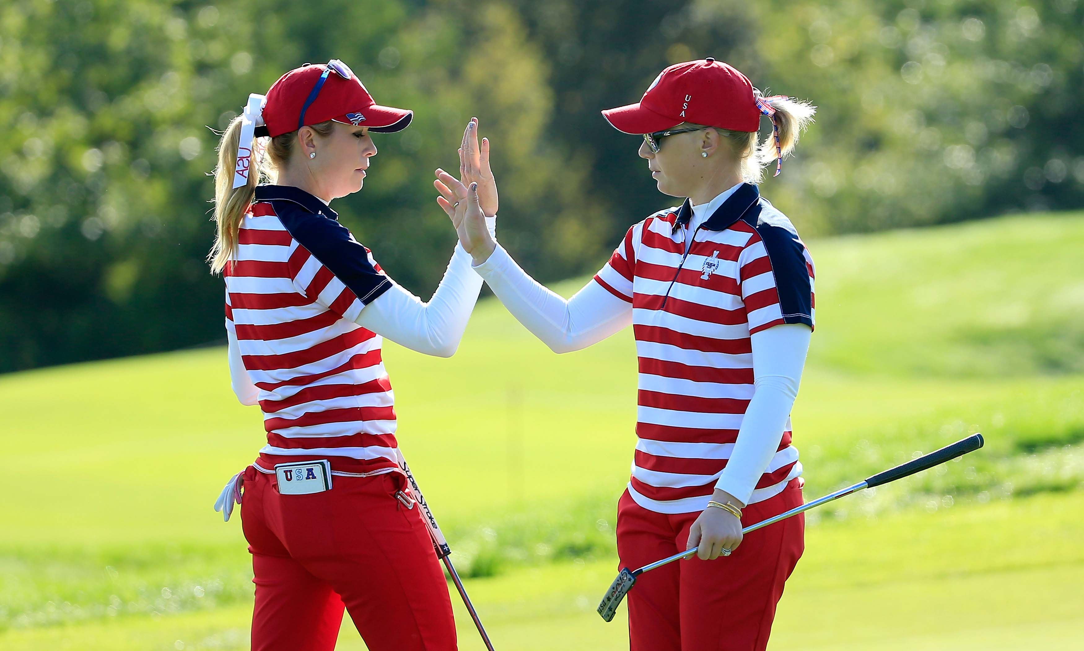 Paula Creamer and Morgan Pressel