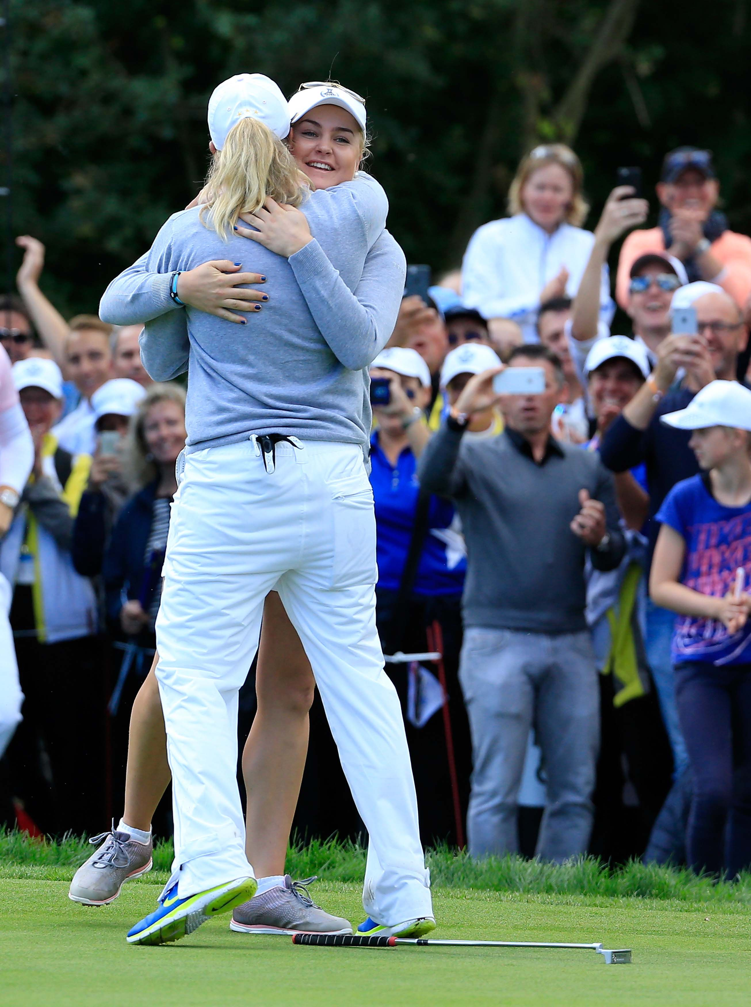 Charley Hull and Suzann Pettersen