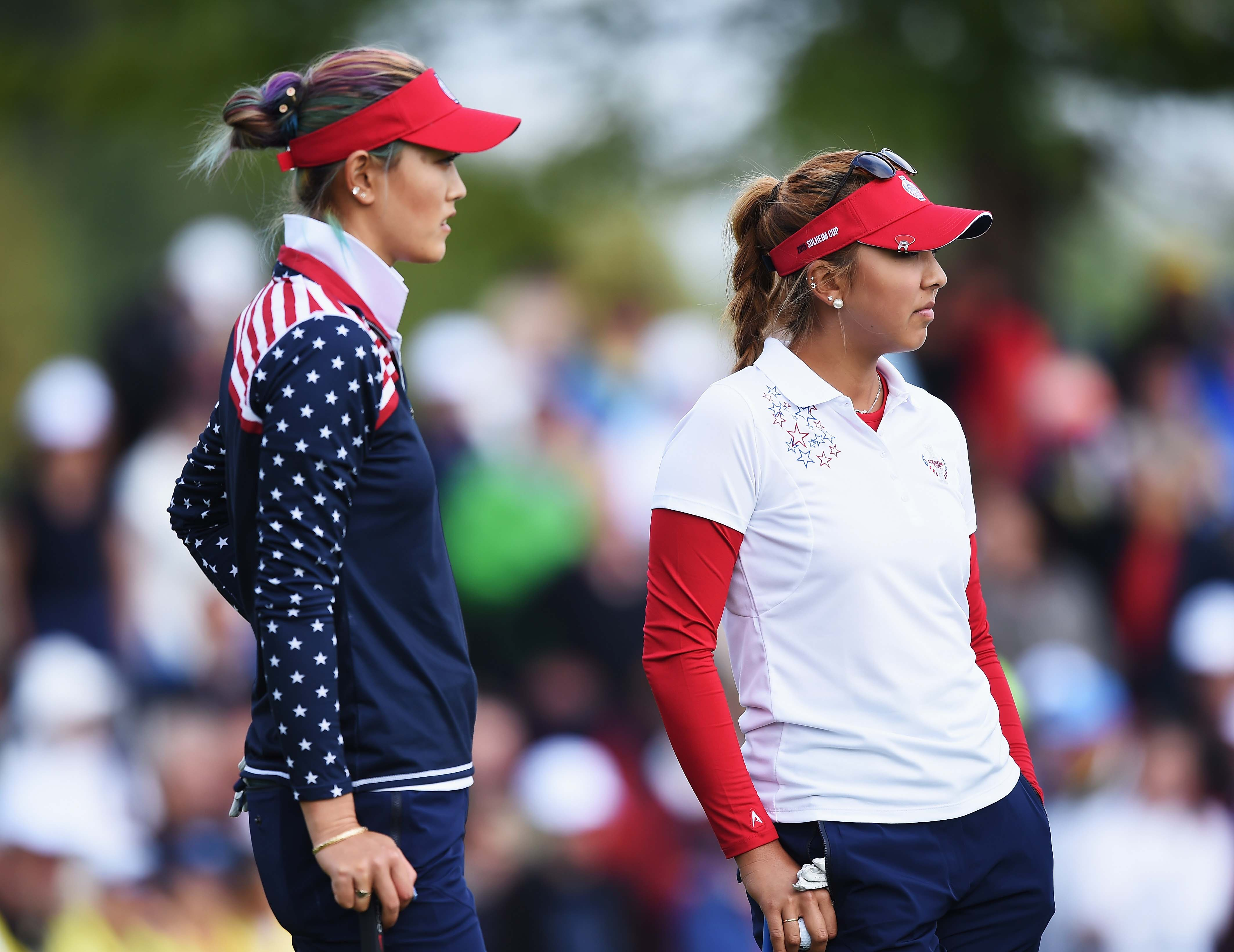Michelle Wie and Alison Lee
