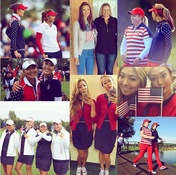 Michelle Wie and Allison Lee