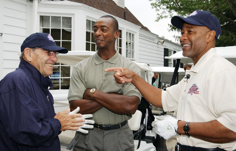 Yogi Berra, Willie McGee and Ozzie Smith