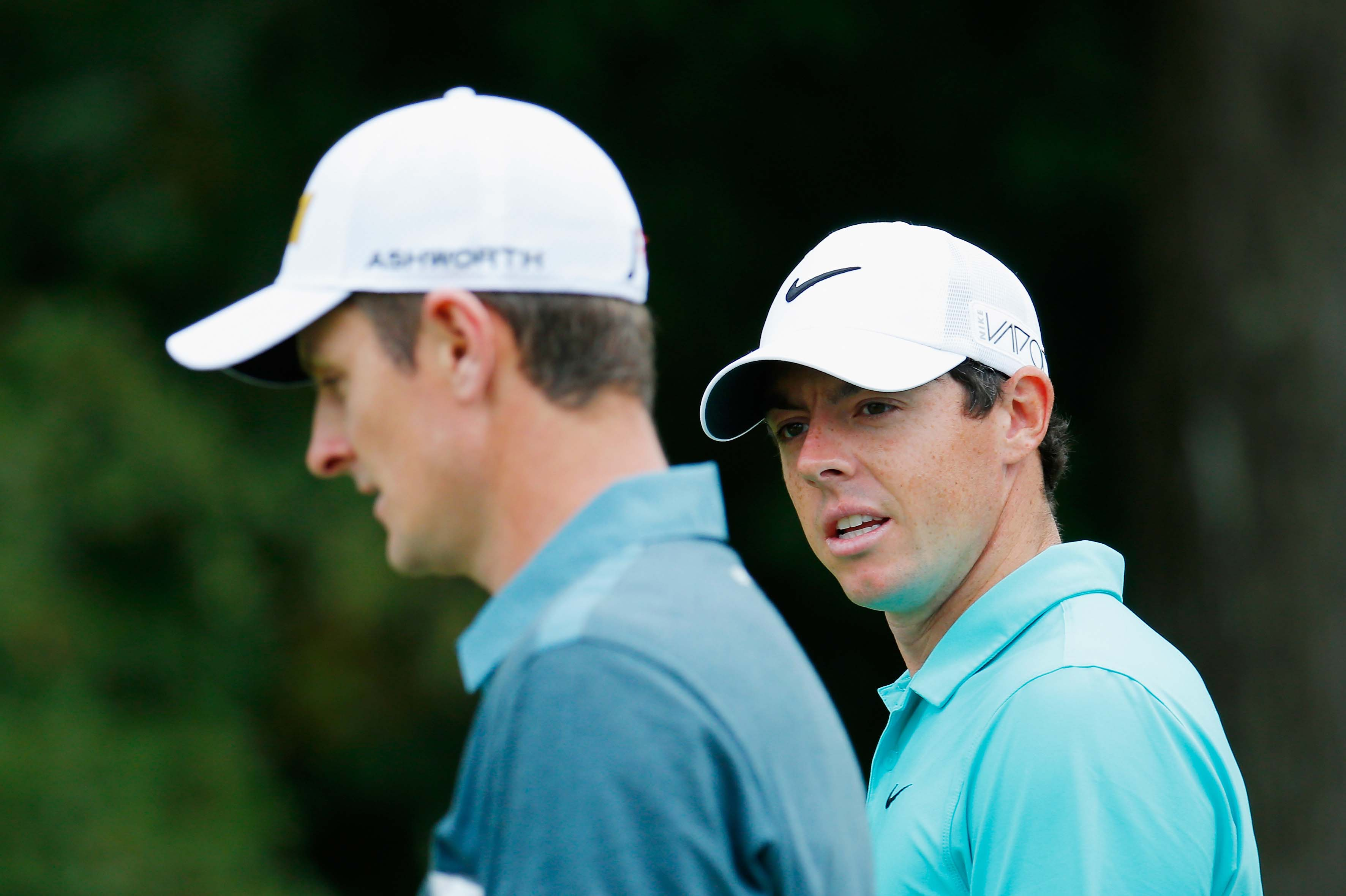 Justin Rose and Rory McIlroy