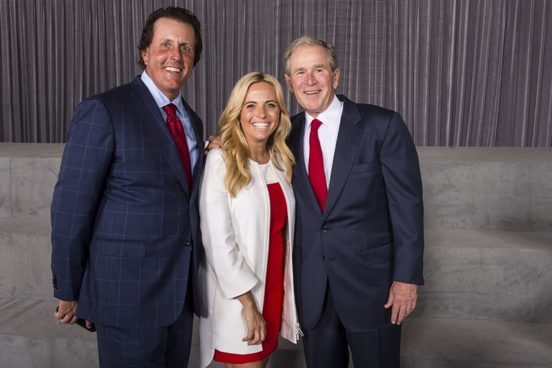 Phil and Amy Mickelson, George W. Bush