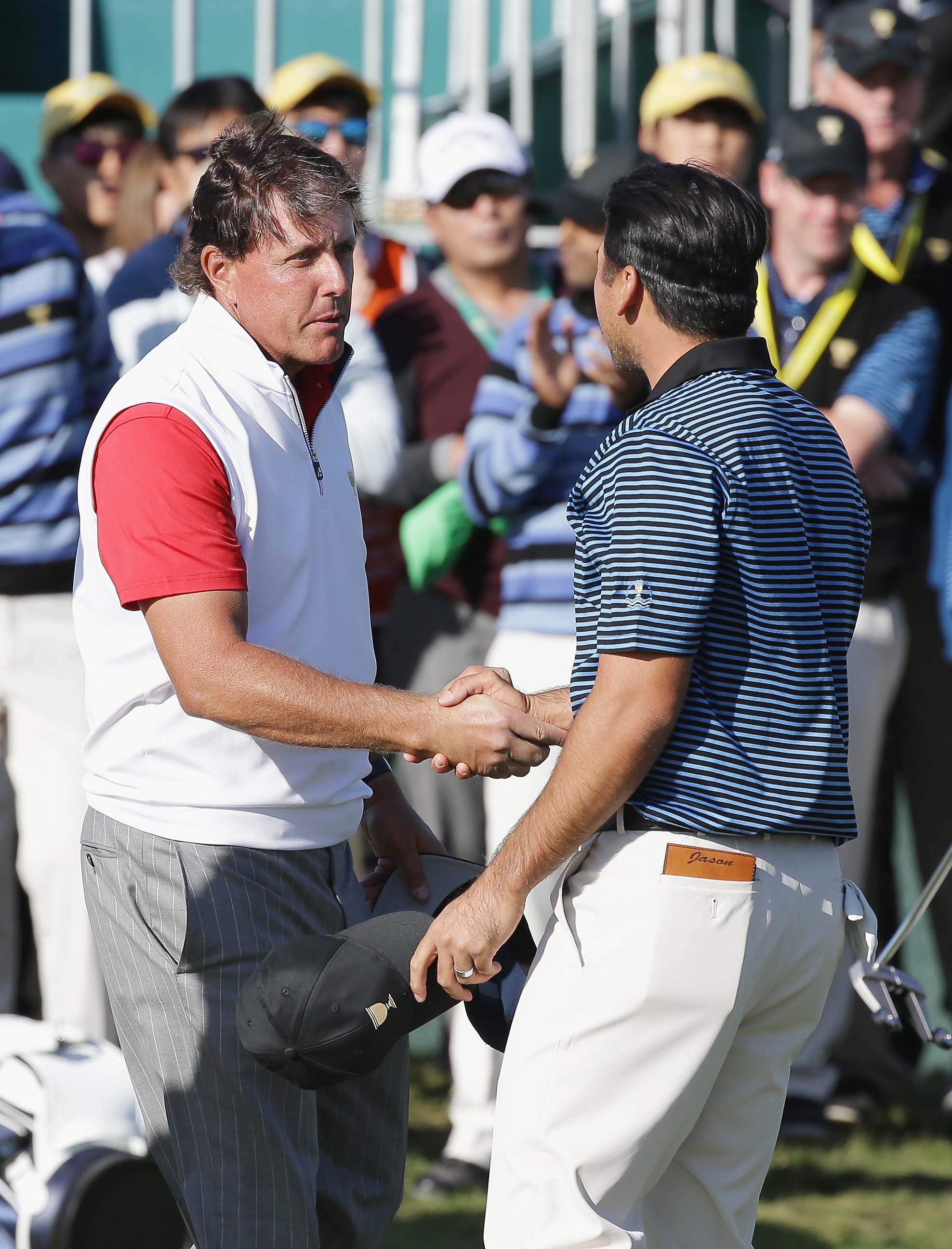 Phil Mickelson and Jason Day