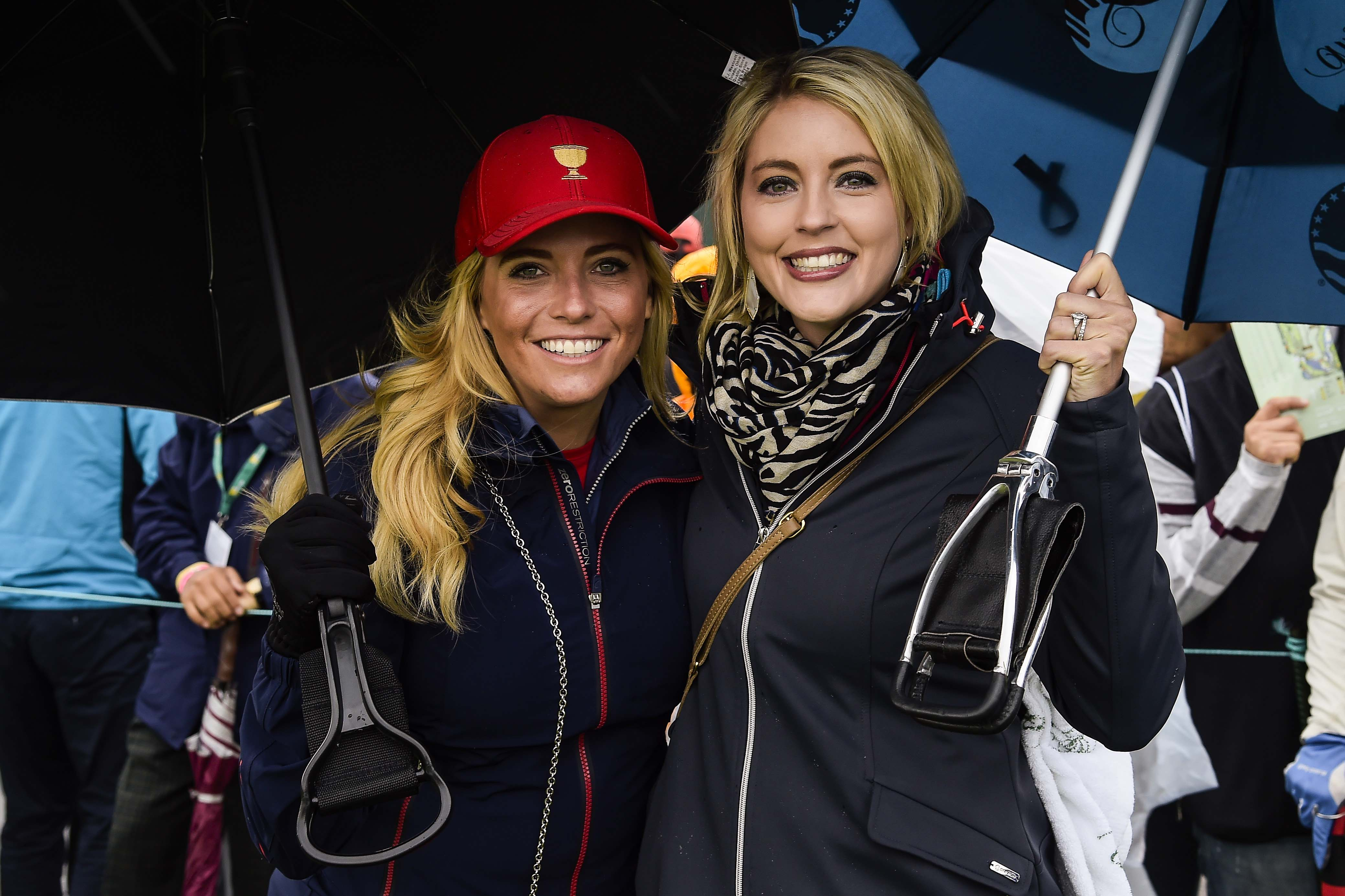 Amy Mickelson and Rosalind Schwartzel