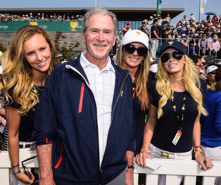 Erin Walker and George W. Bush