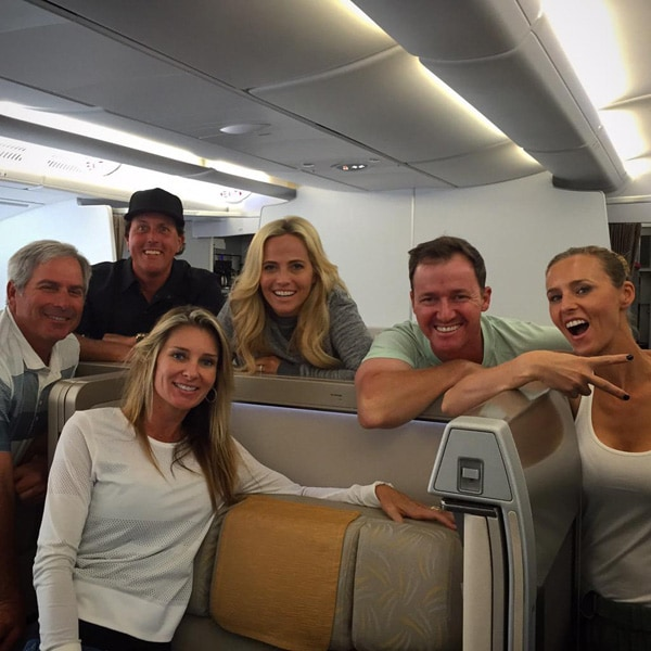 Fred Couples, Suzanne Hannemann, Phil and Amy Mickelson, Jimmy and Erin Walker