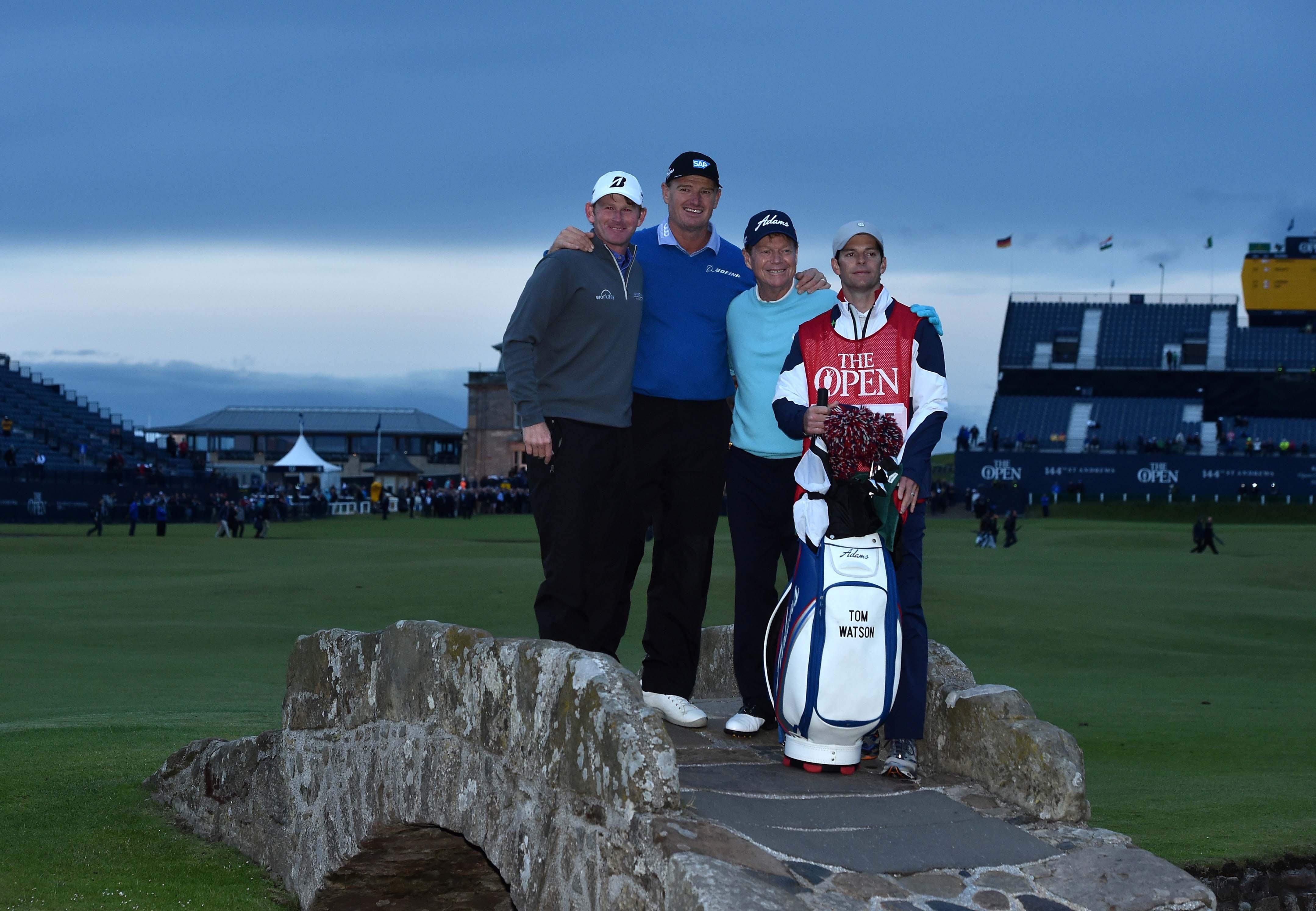 Ernie Els, Tom Watson and Brandt Snedeker, 2015 British Open